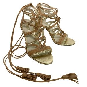 """BCBGeneration """"Ronny"""" Lace-up Braided Strap heels"""